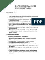 Guía de Actuación Para Simulacro de Emergencia 28-06-2018