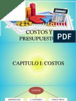 COSTOS Y PRESUPUESTOS -