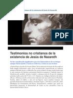 Evidencia Externa de Jesucristo