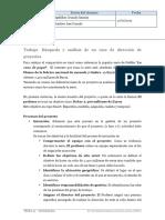 Búsqueda y análisis de un caso de dirección de proyectos