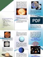 Trip El Sistema Planetario Solar