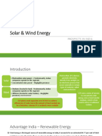 Solar & Wind Energy - Prospect in India