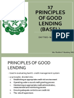 17 Principles of Good Lending