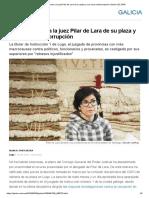 El CGPJ Aparta a La Juez Pilar de Lara de Su Plaza y Sus Casos Anticorrupción