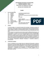 Silabo Une de Curso de Formulacion y Evaluacion de Proyectos 2019 (1)