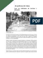 El Cinturón de Pobreza de Lima