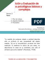 1. Aspectos Históricos, Psicometría, Confiabilidad, Validez