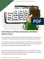 Como Fazer Um Plano de Estudos Perfeito_ (Parte 1 de 2) - Estudar e Aprender