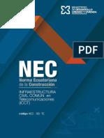 NEC-SB-TE Infraestructura Civil Común de Telecomunicaciones
