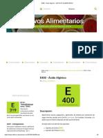 E400 - Ácido Algínico • ADITIVOS ALIMENTARIOS.pdf