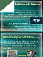EXPOSICION  DE  TAMAÑO DE  LOTE MRP