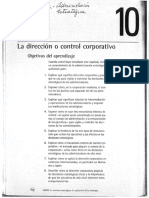 2 Dirección o Control Corporativo