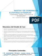 AUTOEMPLEO , FAMILIA Y PROCESOS DE FORMALIZACION