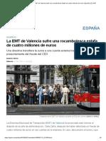 La EMT de Valencia Sufre Una Rocambolesca Estafa de Cuatro Millones de Euros