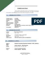 Currículum Vitae Josman