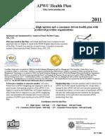 APWU Health Plan- Benefits 2011 Federal Brochure (R1 71-004)