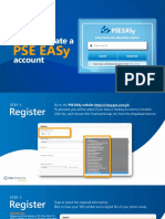 PSE EASy How to Create Account