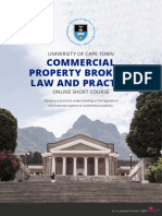 Uct Commercial Property Broker Course Information Pack