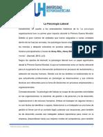 Resumen Ejecutivo Psicología Laboral