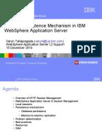 WSTE 12152010 SessionPersistenceMechanismWebSphereApplicationServer Tallapragada 1