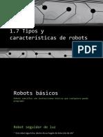 Tipos y características de robots