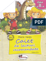 Caiet de Lecturi Recomandate - Clasa 2