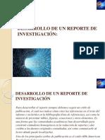 Desarrollo de Un Reporte de Investigación