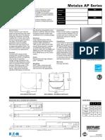 Metalux Slstp Led Strip Specsheet