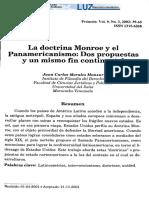 La doctrina Monroe y el Panamericanismo