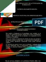 Propuesta El Discurso Pedagogico en Actividades de Formacion