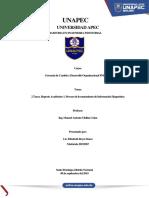 2 Tarea. Reporte Académico 1. Proceso de Levantamiento de Información Diagnóstica Tama