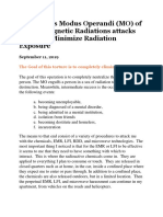 The Modus Operandi (MO) of Electromagnetic Radiations attacks & How to Minimize Radiation Exposure