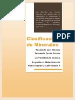 Clasificación de Minerales