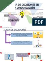 La Toma de Decisiones en Una Organización