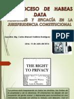 CONFERENCIA_HABEAS_DATA_ALCANCE_EFICACIA_EN_LA JURISPRUDENCIA.ppt