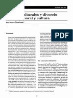 Anfibios culturales y divorcio entre ley, moral y cultura