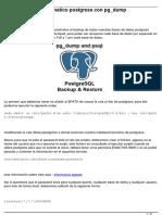 Scripts Backup Automatico Postgress Con Pg Dump