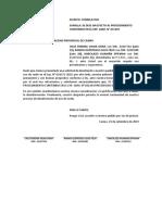 Deje Sin Efecto Documento Presentado en El Expediente