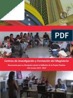 CENTROS DE INVESTIGACIÓN Y FORMACIÓN DEL MAGISTERIO VENEZOLANO