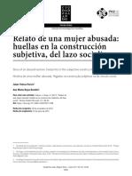 Relato de Una Mujer Abusada Huellas en La Construc