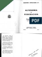 Autonomía y Federación, Por Fernando Valera