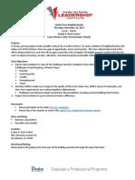 Capital Core - Neighborhoods Class Agenda 11-16-17