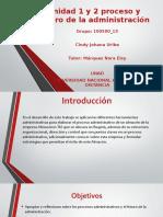 Unidad 1 y 2 proceso y futuro de la administración