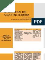 Marco Legal Del Sgsst en Colombia