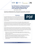 Global Investor Statement on Climate Change Document