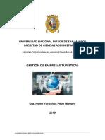 Gestion de Empresas Turisticas 2019 _ Dra. h Pebe - Segundo Grupo 2019