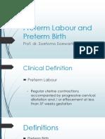 Preterm Labour and Preterm Birth