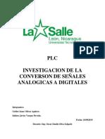 Investigacion - Conversion de Señales Analogicas a Digitales