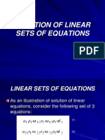 Tm4112 - 6 Solution of Linear Sets of Equations
