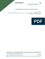 D Alessio, F. (2004). Clasificacion de Las Empresas Segun Sus Operaciones
